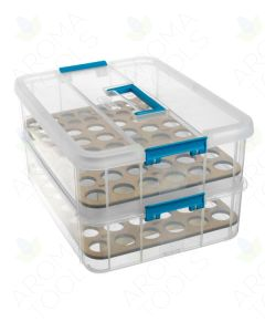 Plastic Multi-size Bottle Essential Oil Storage Case (Holds 104 Vials)