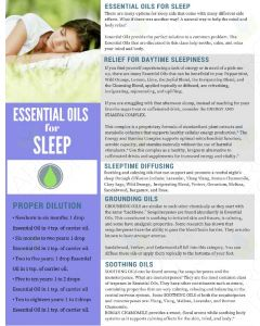 """Essential Oils and Sleep"" Digital Tear Pad"