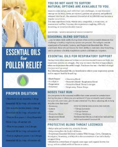 """Essential Oils for Pollen Relief"" Digital Tear Pad"