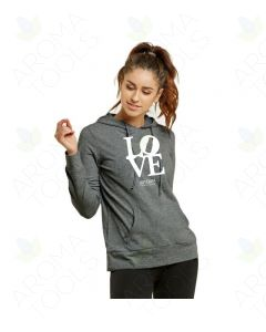 """Women's Charcoal Gray """"LOVE doTERRA"""" Thin Pullover Hoodie"""