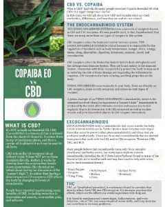 """Copaiba Essential Oil versus CBD"" Digital Tear Pad"