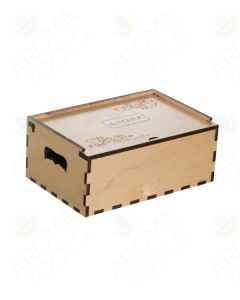 Medium doTERRA Branded Natural Wood Essential Oil Box (Holds 36 Vials)