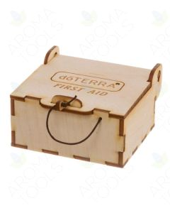 Small doTERRA Branded Wooden First Aid Box (Holds 12 Sample Vials)
