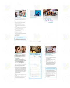 "Lisa Zimmer's ""Host a doTERRA Essential Oil Class"" Digital Trifold Brochure"