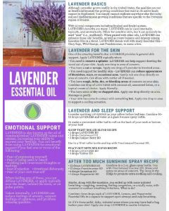 """Lavender Essential Oil"" Digital Tear Pad"