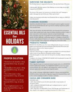 """Surviving the Holidays with Essential Oils"" Digital Tear Pad"