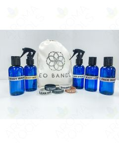 "Essential Oil Label Bandz: ""Travel Essentials"" with 4 oz. Bottles (Set of 10)"