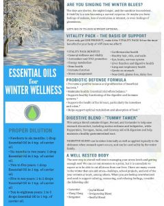 """Essential Oils for Winter Wellness"" Digital Tear Pad"
